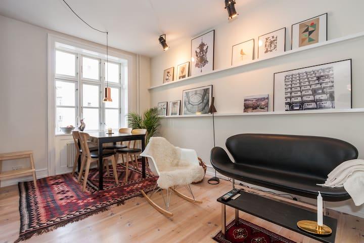 A Scandinavian Home in CPH City - København - Apartment