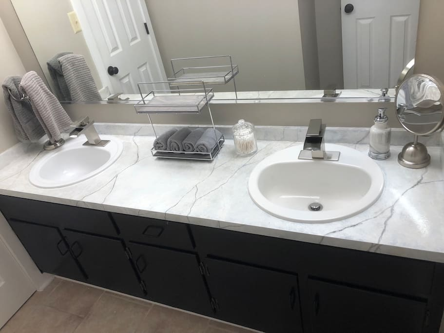 Master bathroom sink