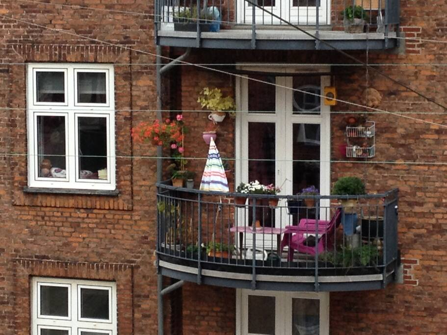 The most cosy balcony by day.