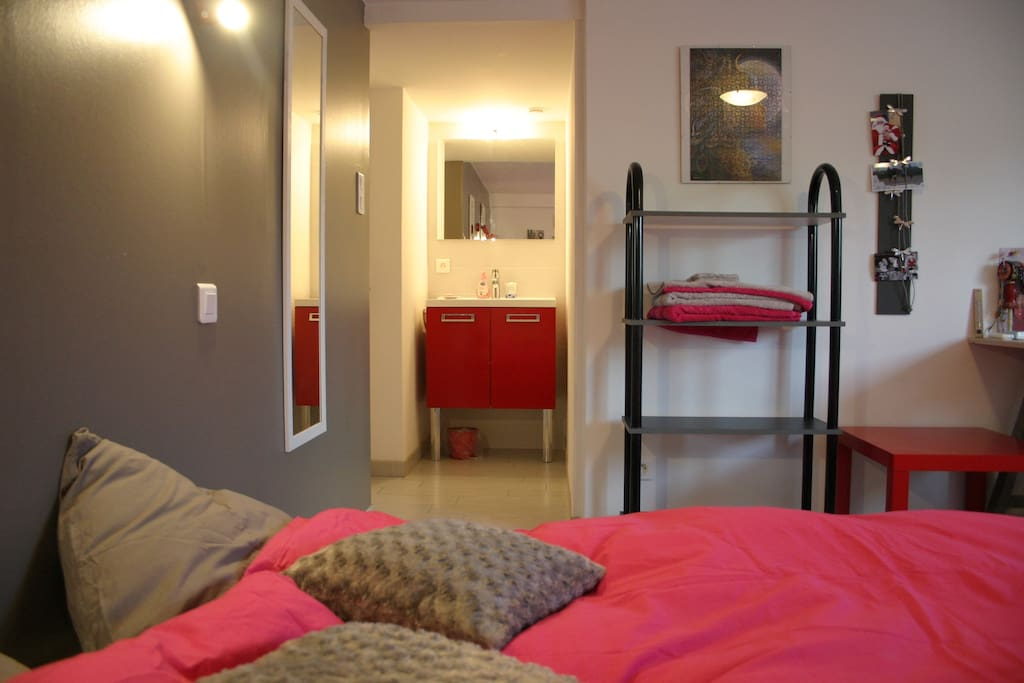 jolie chambre salon avec clic clac au calme houses