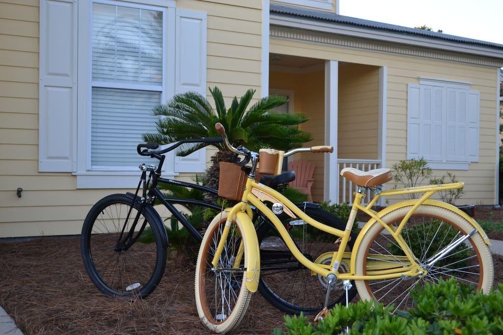 2 beach bikes