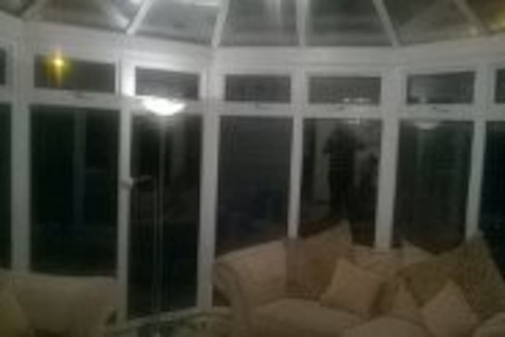 Sofas in conservatory