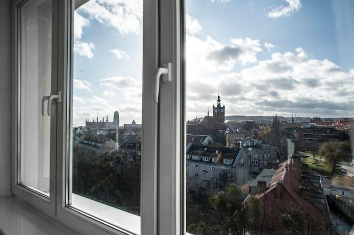 Apartament w centrum Gdańska z bajecznym widokiem