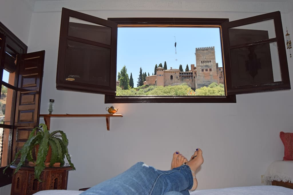 Vistas desde la Cama.  Views from the bed.