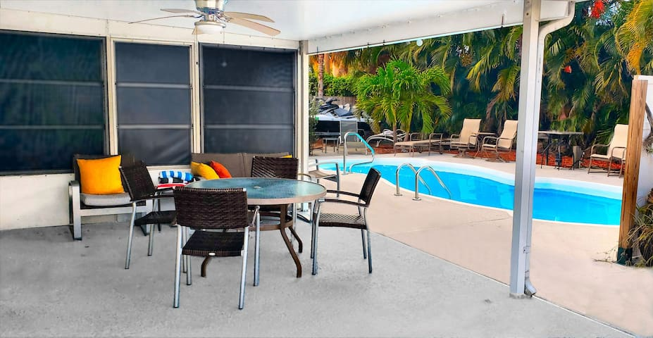 Charming PrivatSuite Pool 5min: Beach Stadium PGA
