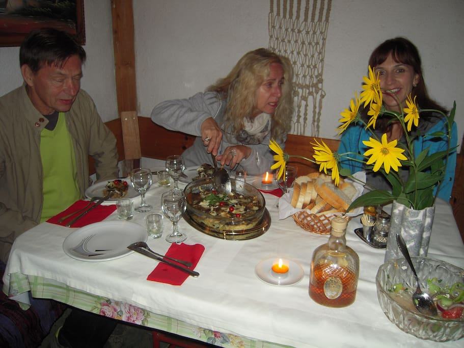 recommendations to guests excellent traditional Macedonian food Lile Pestani accommodation