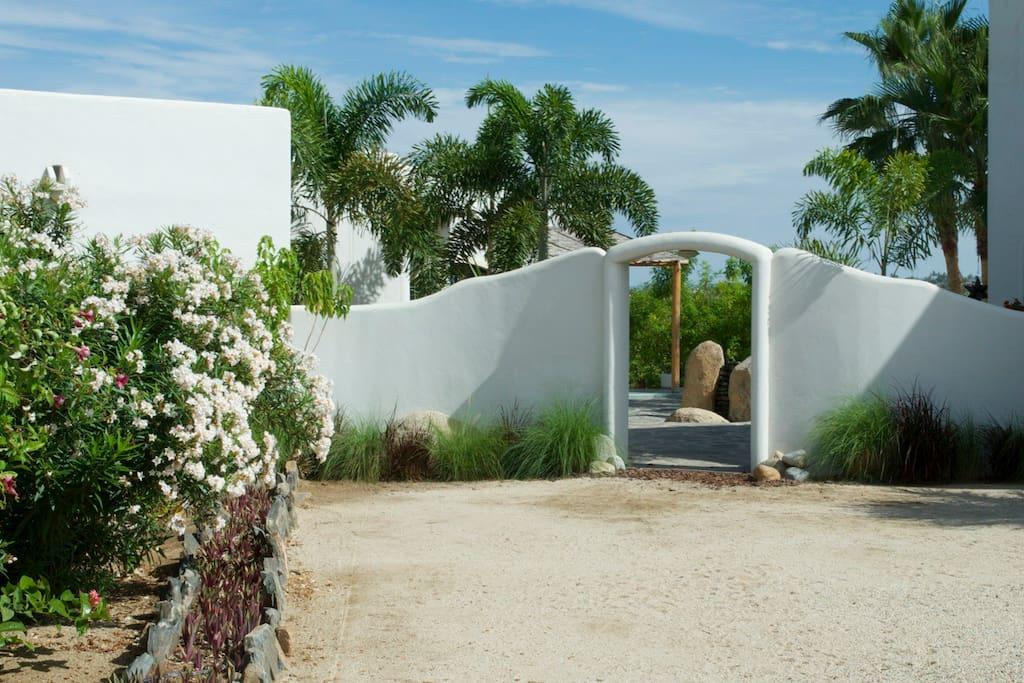 Entrance to patio