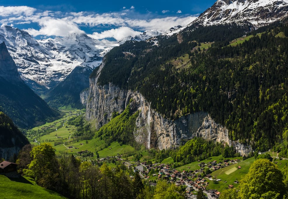 Lord of the Rings: The valley of Imladris (within which Rivendell is situated) was based upon the landscape of Lauterbrunnen, Switzerland. Tolkien was said to have journeyed to this region; his original painting of Rivendell is significantly similar to th