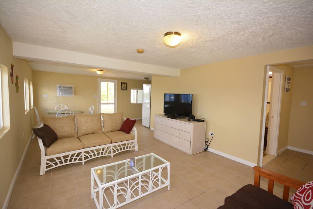 Living room, flat panel TV.