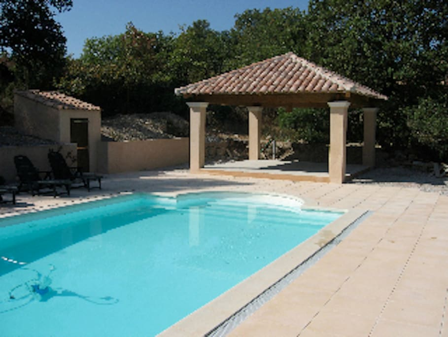 10m x 5m pool, secured area from the house