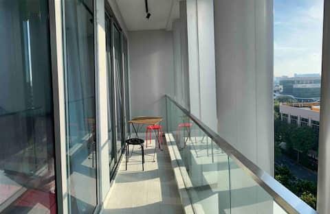 Habitación doble con baño - Ubicación Penthouse  Prime