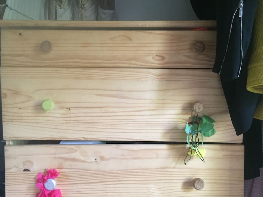 Dresser drawers and closet space available