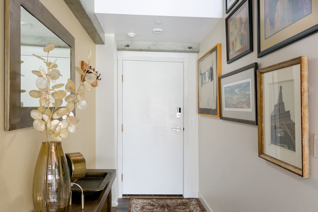 Inviting Entrance with Art Wall