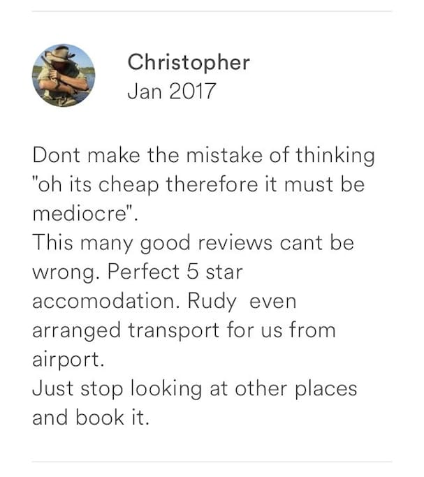 Our guests review