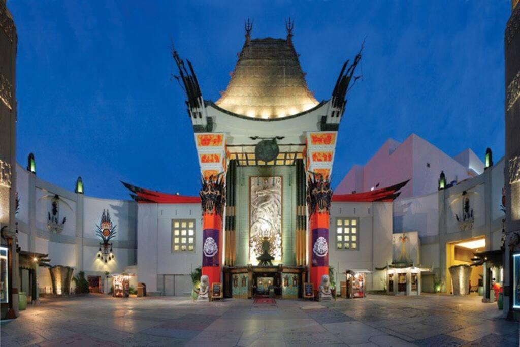 Mann Chinese theater 2 blocks away