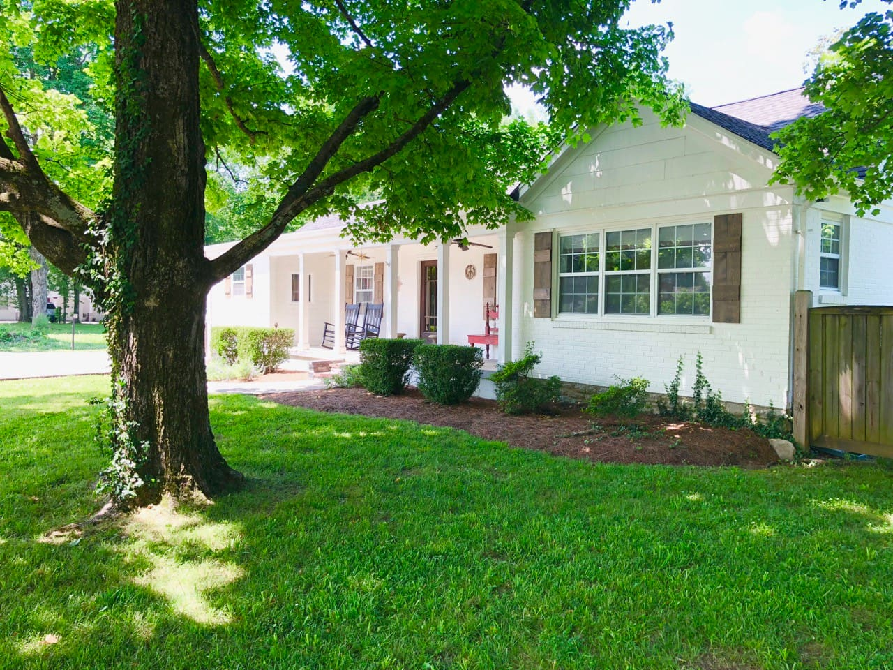 Our lovely home sits on 1/2 acre and is surrounded by beautiful majestic Maples and a lovely landscaped yard.
