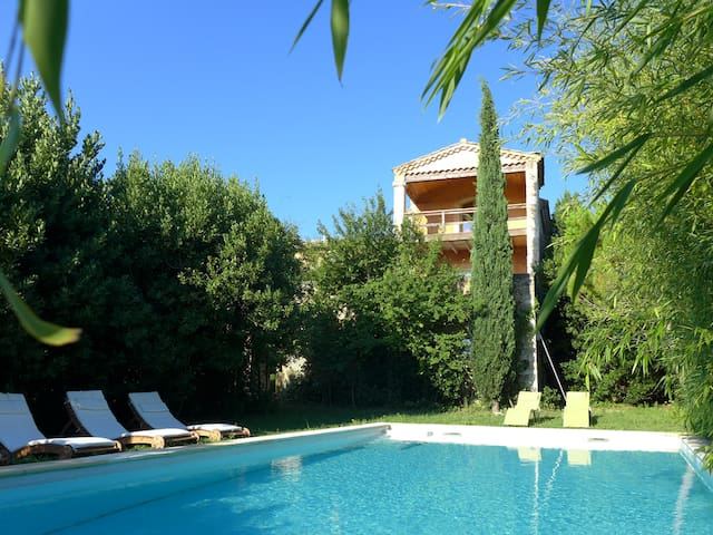 Provencal stone house with pool