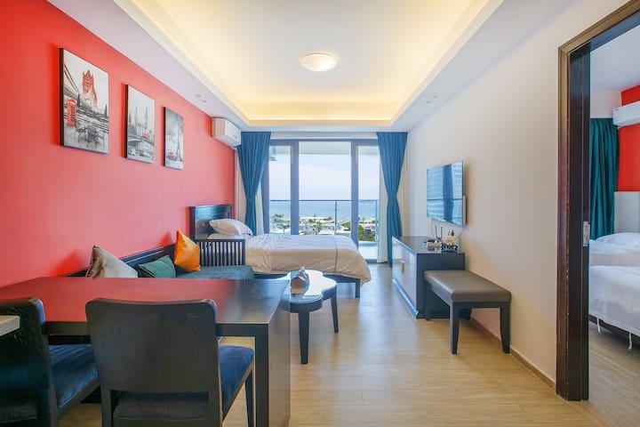 阳江市海陵岛敏捷黄金海岸一房一厅3床无敌大海景(可煮饭)