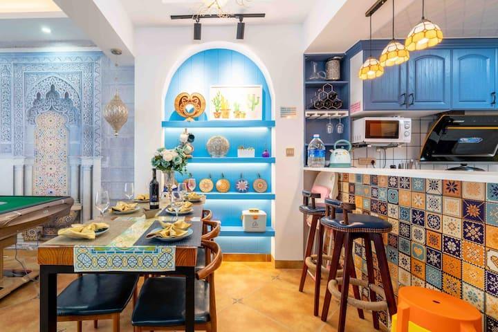 弥勒安安之家-邂逅-带麻将机市中心全新摩洛哥四居室