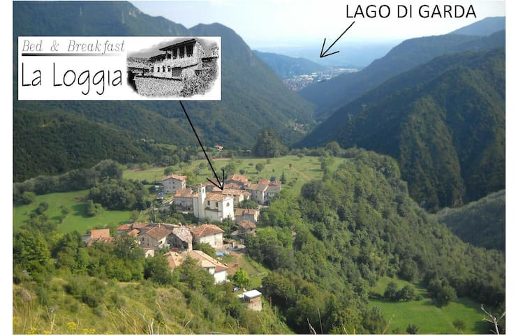 B&B La Loggia Carvanno di Vobarno. - Vobarno - Bed & Breakfast