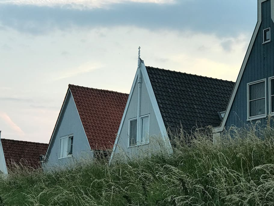 Houses on the dyke