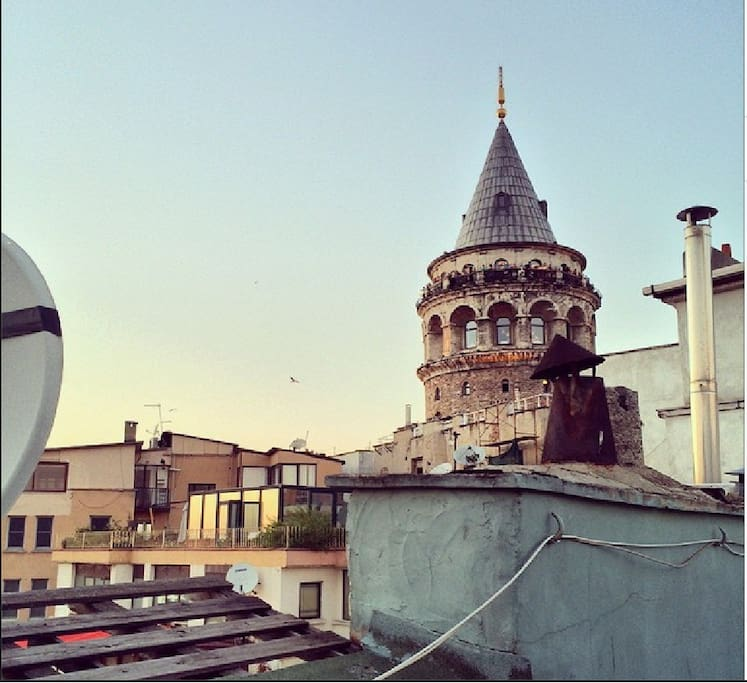 just next to galata tower,