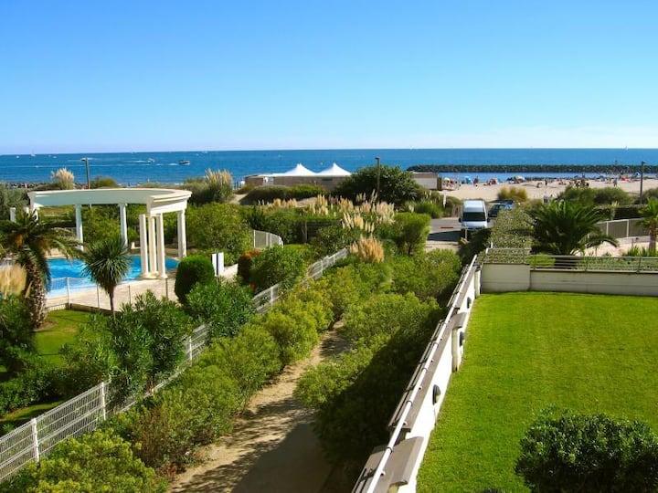 Cap d'Agde, Front de mer, Idéal 4pers, Piscine