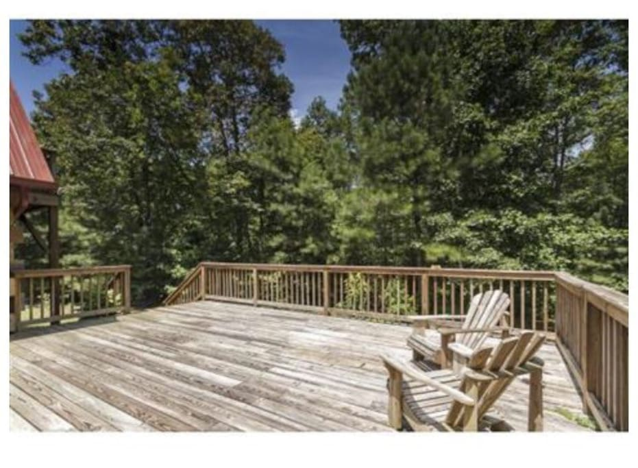 back deck for relaxing or entertaining