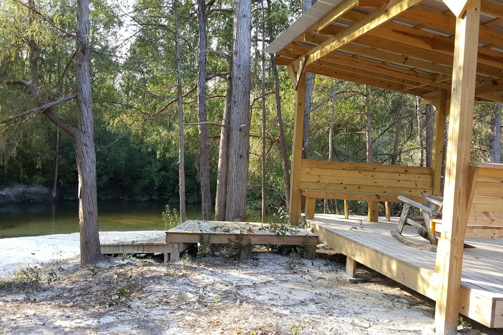 Just a few minutes walk to Coldwater creek with a private sand bar and gazebo.