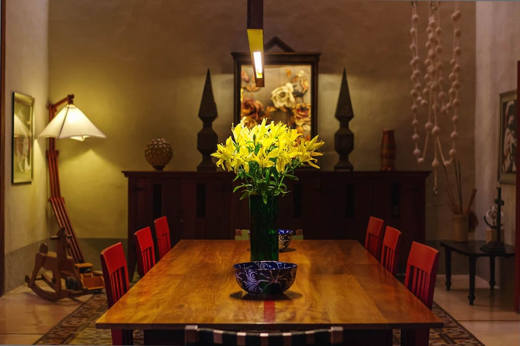 Gather in your mission-style dining room for a real fiesta.