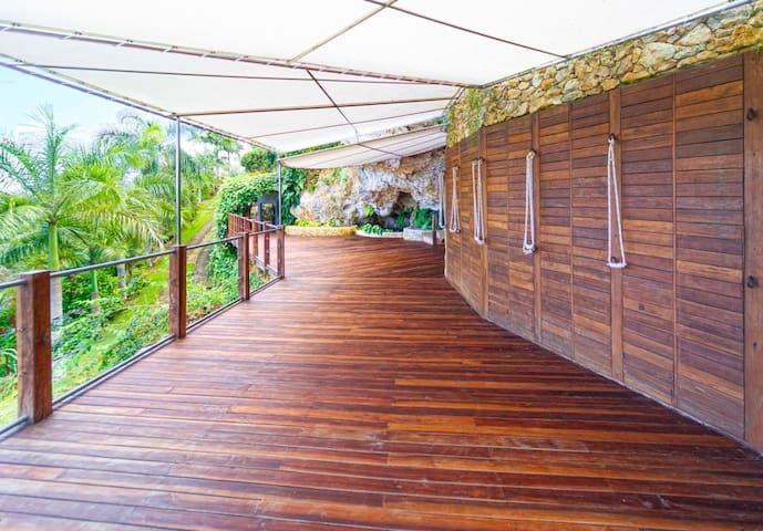 Yoga deck and and social area for events