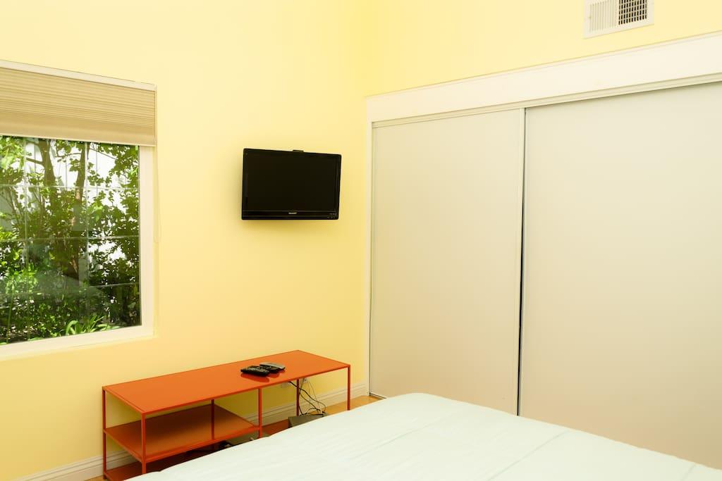 TV & nice roomy closet