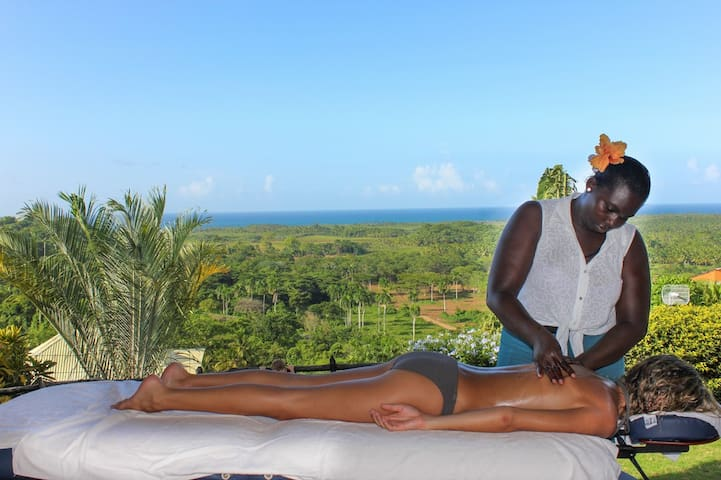 Full deep muscle massage on site by Julia