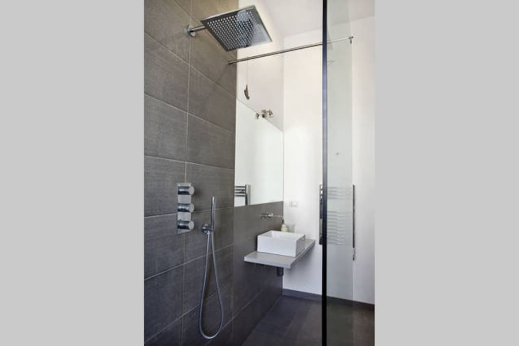 Rain walk-in shower in the ensuite bathroom