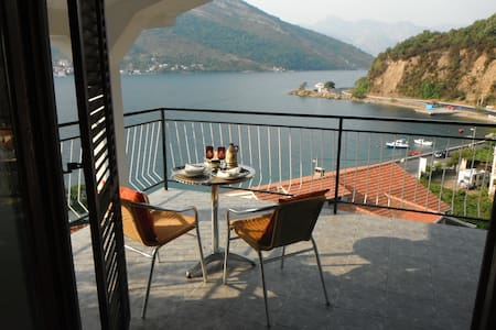 two large apartment on the coast near Tivat for 8+