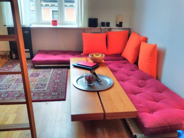 Supercentral studioapartment, with bohemian vibes. - Oslo - Apartment