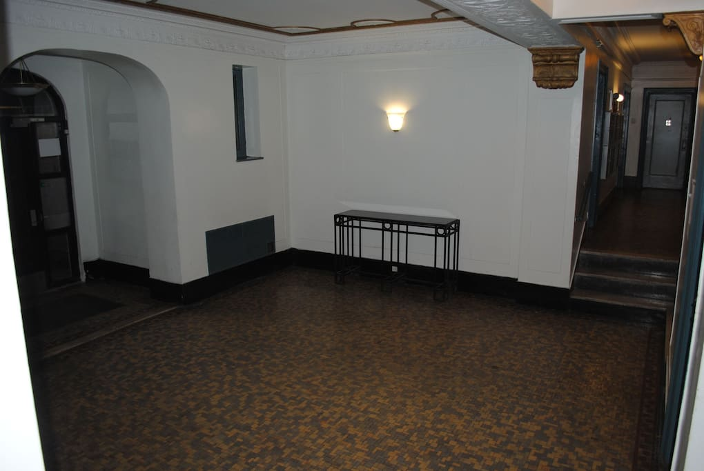 ground floor apartment of art deco building