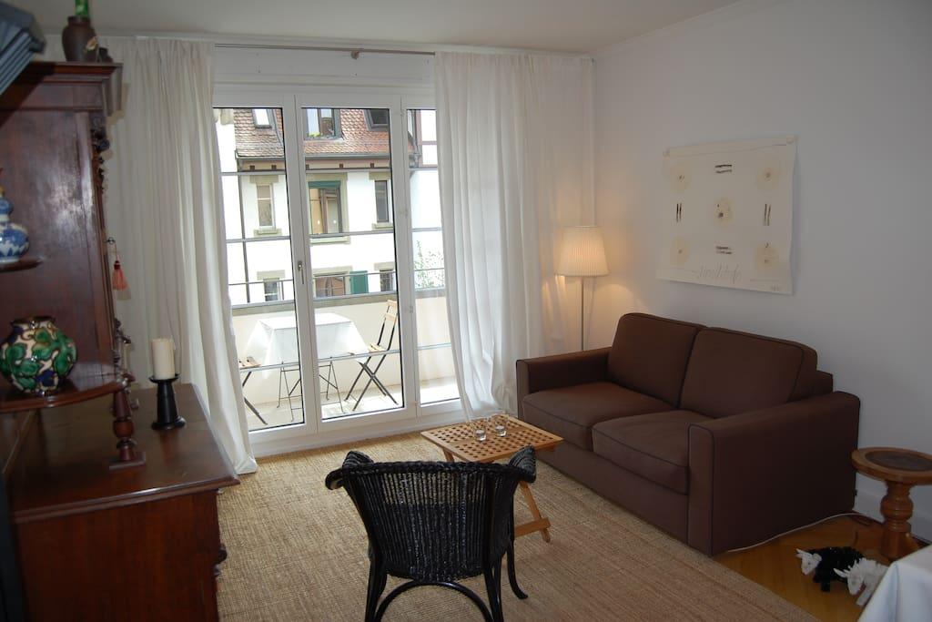Wohnzimmer Bettsofa 120 cm