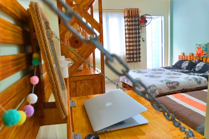 Lovely room with big balcony in heart of HCMC