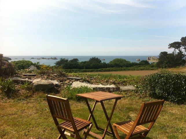 Gîte Breizh bleue vue mer  à 300 m crique - Plougrescant - Huis