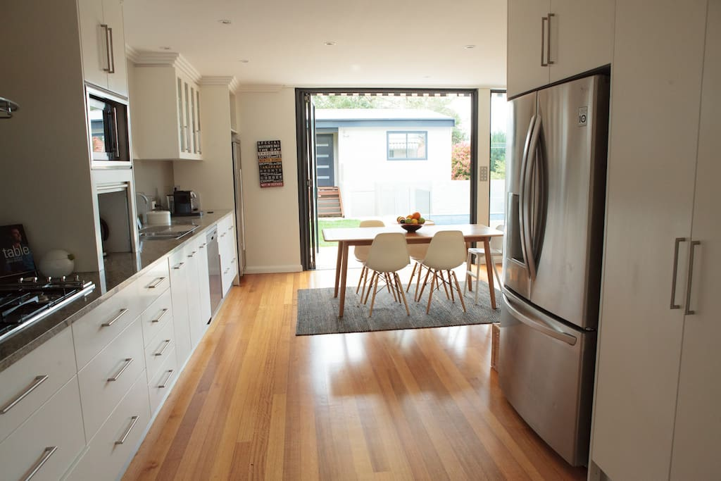 Large open plan kitchen/diner - bi-folds open onto garden