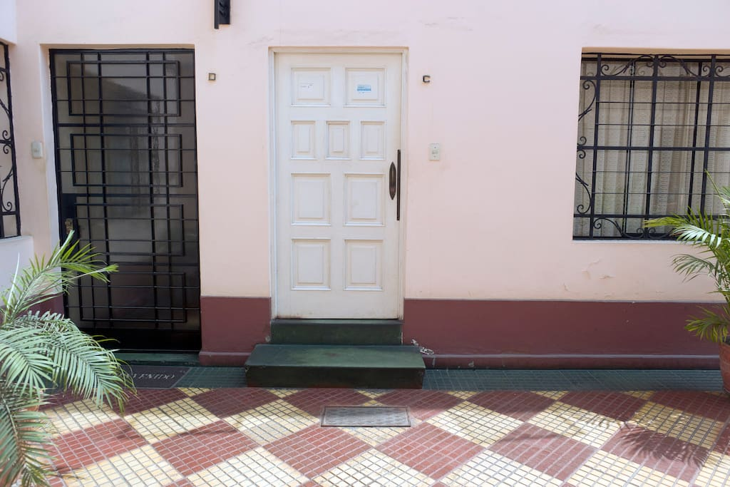 Entrance to second floor apartment/townhouse