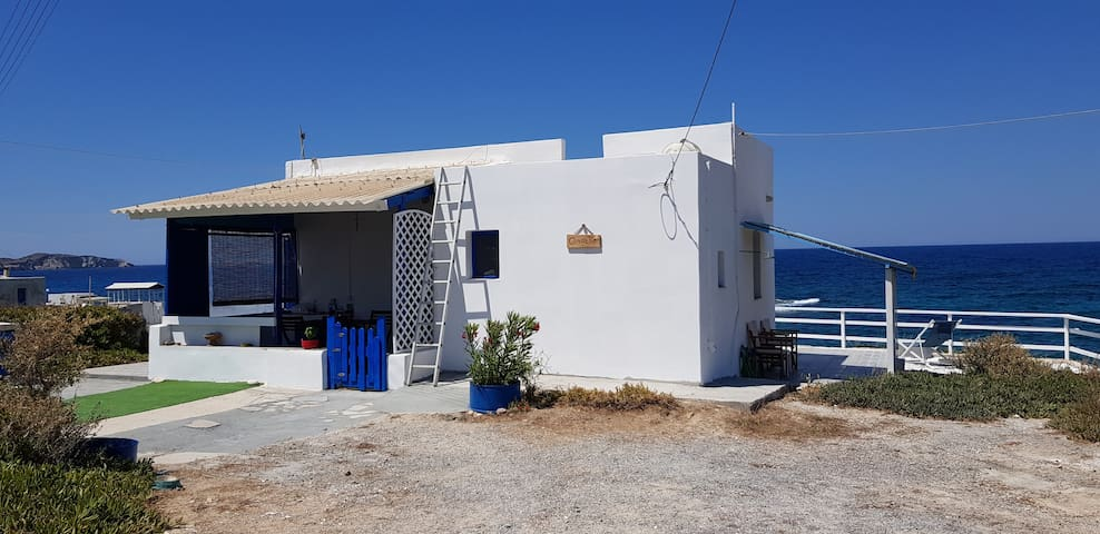 Traditional Cycladic house by the sea