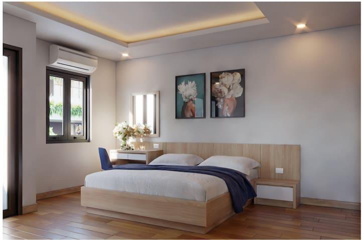 *theNAVIS* LUXURY one King bed Studio  near MyKhe