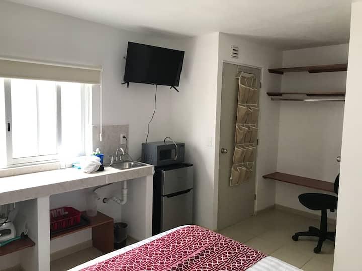 Habitación loft/estudio 5 con baño en Providencia