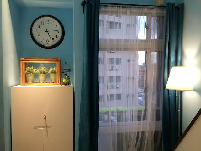 藍絲絨白紗窗簾,這麼典雅,超浪漫!