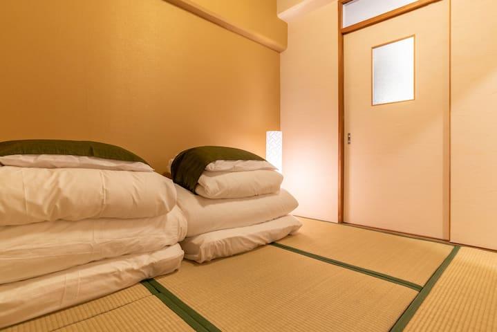 Traditional Japanese-style tatami room.