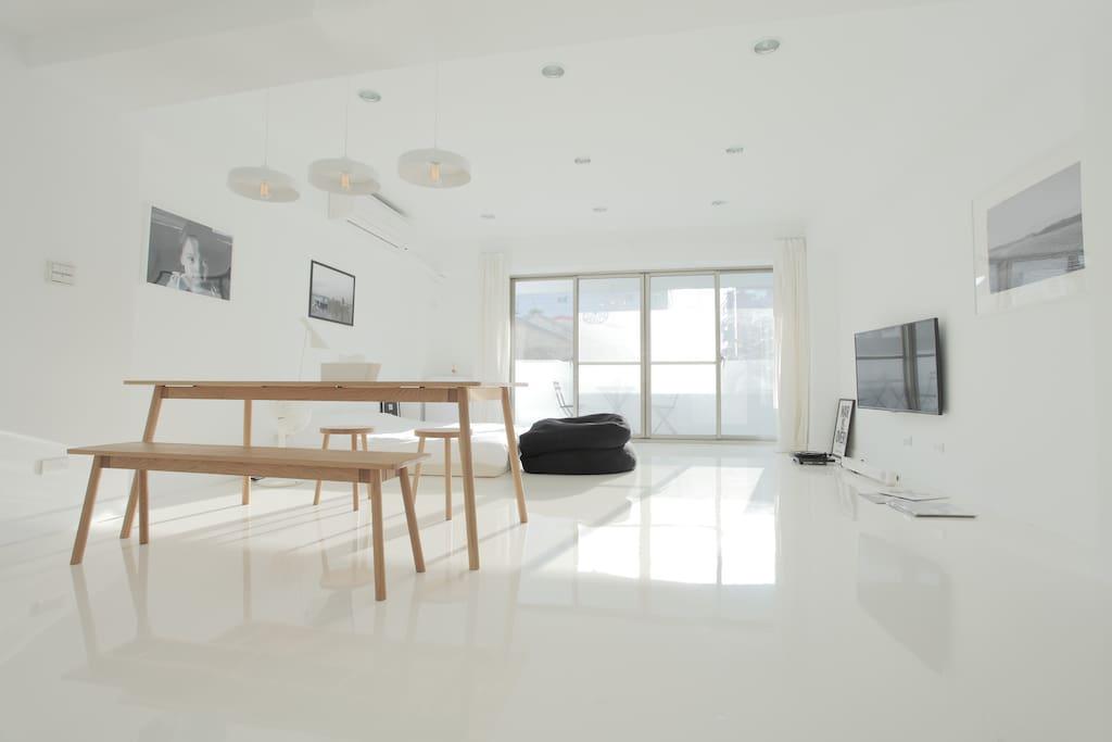 整個房間都能受到陽光的包覆