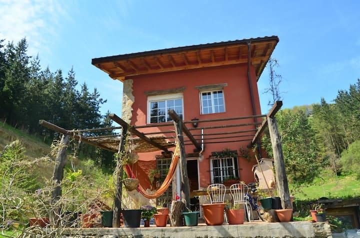 Casa a 40 km de San Sebastian.