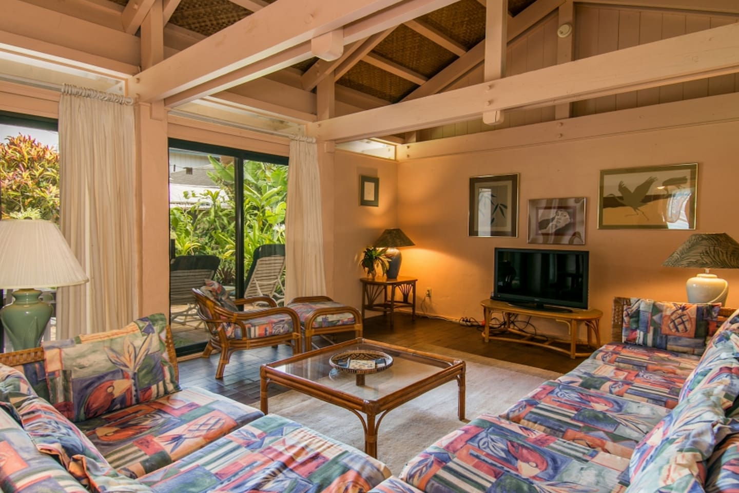 Indoor/Outdoor living with large lanai accessible from Bedroom, LR & Dr.